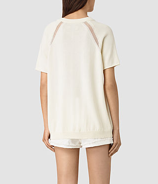 Mujer Lanta Knitted Tee (Chalk White) - product_image_alt_text_4