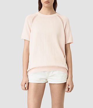 Womens Lanta Knitted Tee (ROSE PINK)