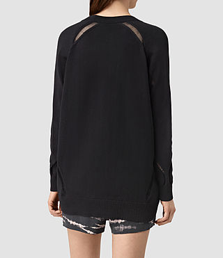 Womens Lanta Cardigan (Black) - product_image_alt_text_3