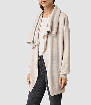 Mujer Dahlia Cardigan (Mist Marl) - product_image_alt_text_2