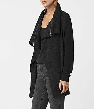 Womens Dahlia Cardigan (Black/Cinder)