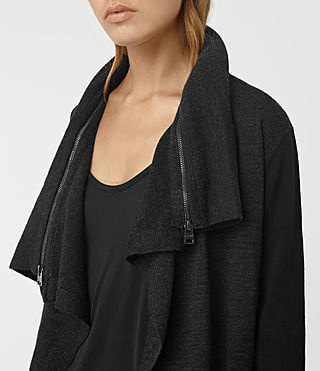 Mujer Dahlia Cardigan (Black/Cinder) - product_image_alt_text_2