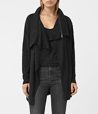Mujer Dahlia Cardigan (Black/Cinder) - product_image_alt_text_3
