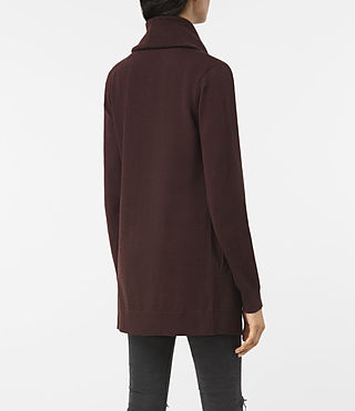 Women's Dahlia Cardigan (BORDEAUX RED) - product_image_alt_text_4