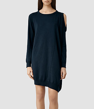 Womens Sago Sweater Dress (Midnight)