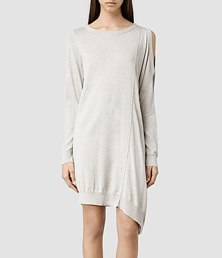 Womens Sago Sweater Dress (Oyster Marl)