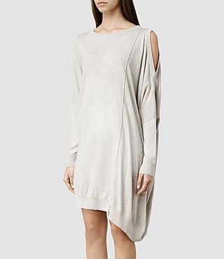 Womens Sago Sweater Dress (Charcoal) - product_image_alt_text_2