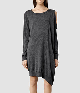 Womens Sago Sweater Dress (Charcoal)
