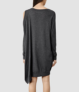 Womens Sago Sweater Dress (Charcoal) - product_image_alt_text_3