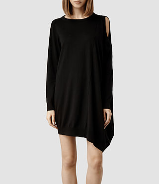 Womens Sago Dress (Black) - product_image_alt_text_1