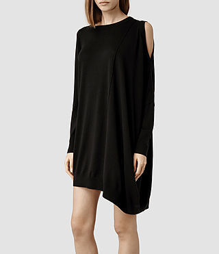 Womens Sago Dress (Black) - product_image_alt_text_2