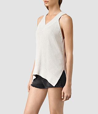 Donne Manson Vest (PORCELAIN WHITE) - product_image_alt_text_2