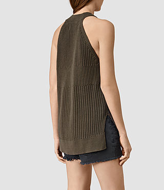 Womens Manson Vest (Olive Green) - product_image_alt_text_3
