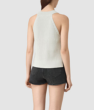 Mujer Manson Cropped Vest (PORCELAIN WHITE) - product_image_alt_text_3