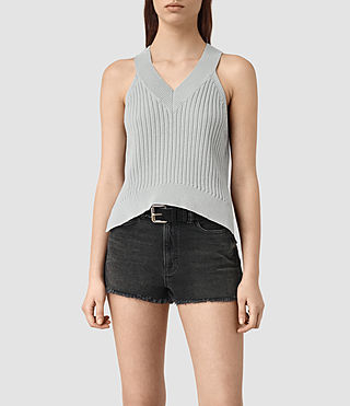 Damen Manson Cropped Vest (Light Blue)
