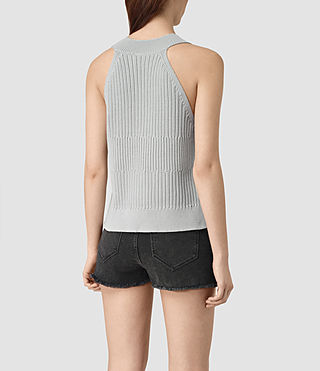 Women's Manson Cropped Vest (Light Blue) - product_image_alt_text_3