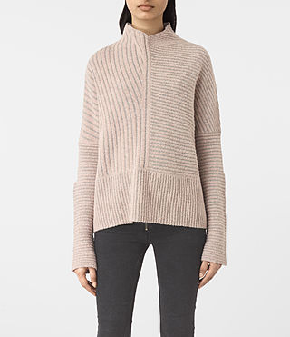 Women's Terra Funnel Neck Jumper (NUDE PINK) -