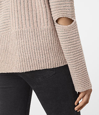 Women's Terra Funnel Neck Jumper (NUDE PINK) - product_image_alt_text_2