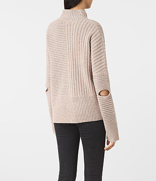 Women's Terra Funnel Neck Jumper (NUDE PINK) - product_image_alt_text_4