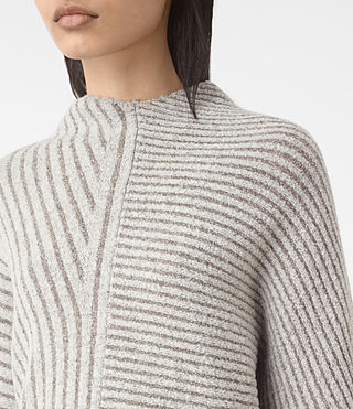 Damen Terra Funnel Neck Jumper (CREAM WHITE) - product_image_alt_text_2
