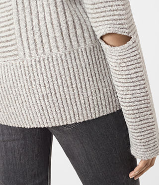 Mujer Terra Funnel Neck Jumper (CREAM WHITE) - product_image_alt_text_4