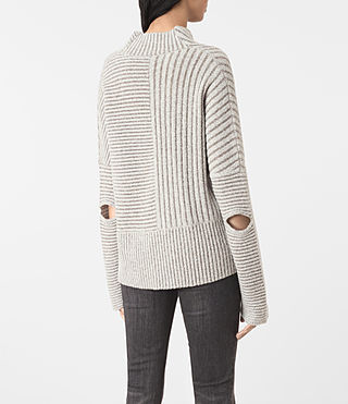Mujer Terra Funnel Neck Jumper (CREAM WHITE) - product_image_alt_text_5