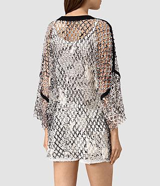 Damen Roma Print Mesh Tee (Black/White) - product_image_alt_text_4