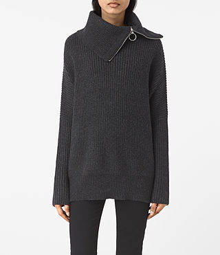 Womens Dano Sweater (Cinder Black Marl) - product_image_alt_text_1