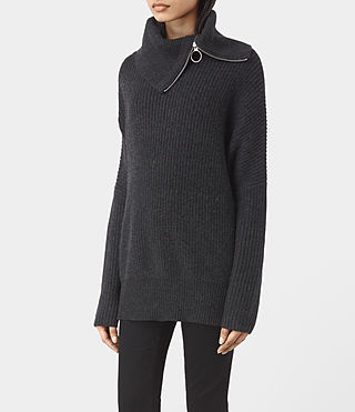 Womens Dano Sweater (Cinder Black Marl) - product_image_alt_text_3