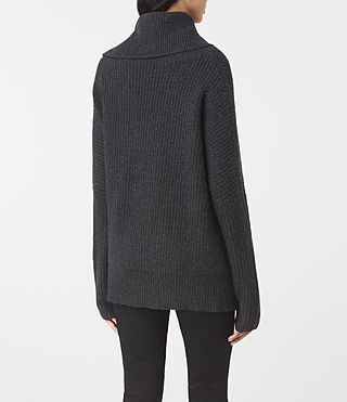 Womens Dano Sweater (Cinder Black Marl) - product_image_alt_text_4