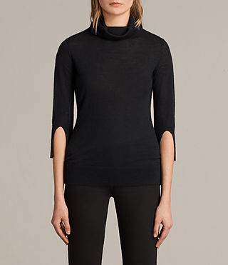 raven funnel cashmere sweater