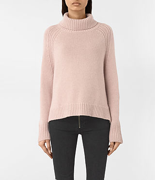 Women's Arrin Cashmere Jumper (Whisper Pink) - product_image_alt_text_2