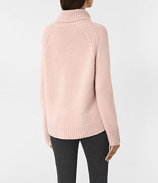 Women's Arrin Cashmere Jumper (Whisper Pink) - product_image_alt_text_4