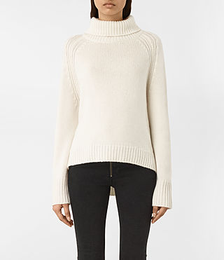 Womens Arrin Cashmere Sweater (Chalk White)