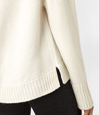 Women's Arrin Cashmere Jumper (Chalk White) - product_image_alt_text_2