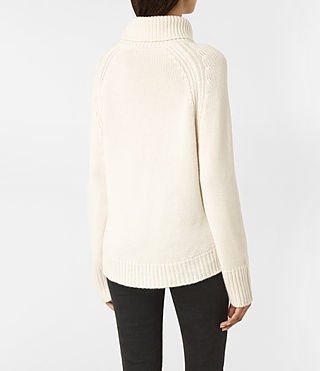 Women's Arrin Cashmere Jumper (Chalk White) - product_image_alt_text_4