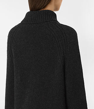 Womens Arrin Cashmere Sweater (Cinder Black) - product_image_alt_text_2