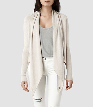 Womens Sago Pirate Cardigan (Khaki) - product_image_alt_text_1