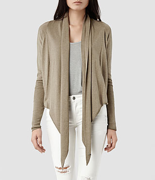 Womens Sago Pirate Cardigan (Khaki)