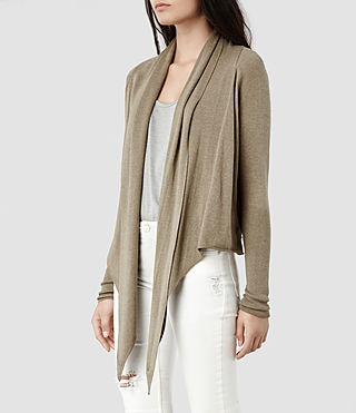 Womens Sago Pirate Cardigan (Khaki) - product_image_alt_text_2