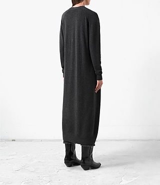 Donne Long Sonic Cardigan (Cinder Black Marl) - product_image_alt_text_4