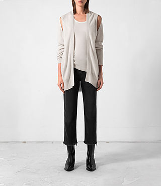 Donne Cardigan Sonic in cashmere (PORCELAIN WHITE)