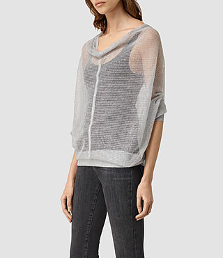 Womens Elgar Lev Cowl (Light Grey) - product_image_alt_text_2