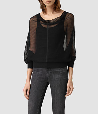 Womens Elgar Lev Cowl Sweater (Black)