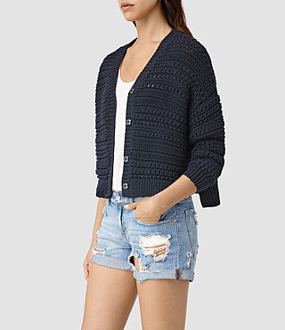 Womens River Cardigan (Ink Blue)