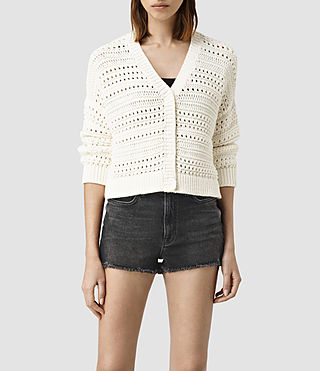 Mujer River Cardigan (Chalk White) - product_image_alt_text_1