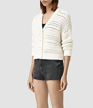 Womens River Cardigan (Chalk White) - product_image_alt_text_2