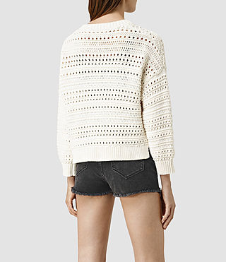 Mujer River Cardigan (Chalk White) - product_image_alt_text_3