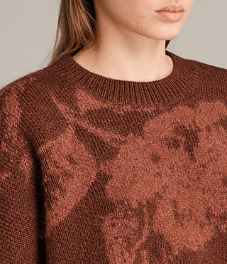 Womens Kasuri Crew (COPPER RED) - Image 2