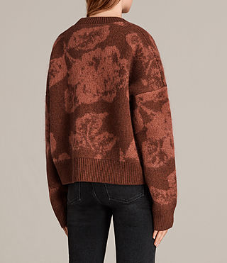 Womens Kasuri Crew (COPPER RED) - Image 4